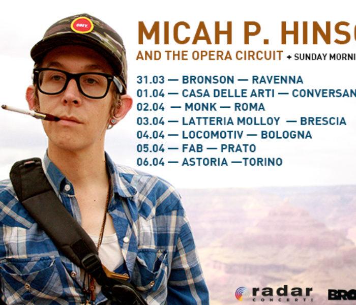 Micah P. Hinson torna in Italia
