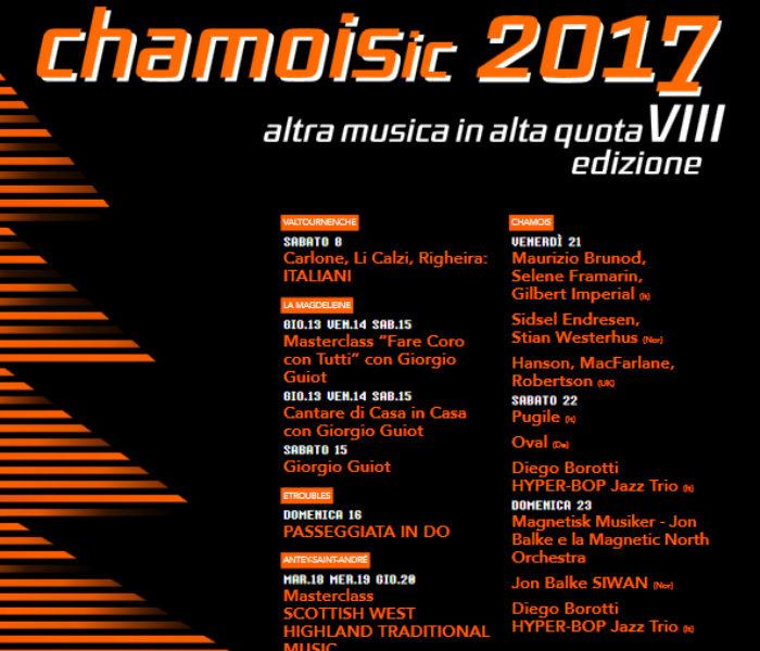 Chamoisic 2017: musica eclettica in alta montagna