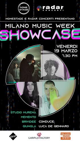 Milano Music Week Showcase: quattro artisti in streaming